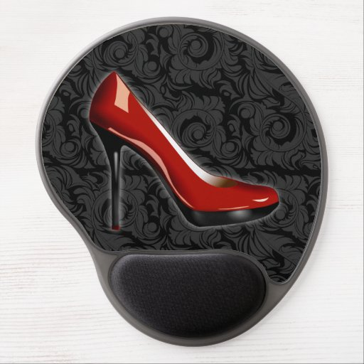 Sassy Red Shoe Gel Mouse Pads