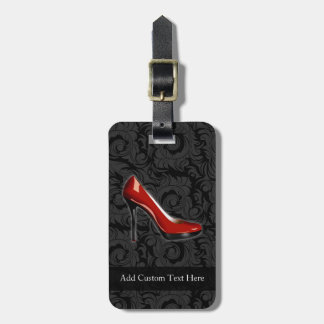 Sassy Red Shoe Luggage Tag