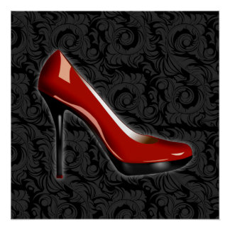 Sassy Red Shoe Poster