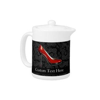Sassy Red Shoe Teapot