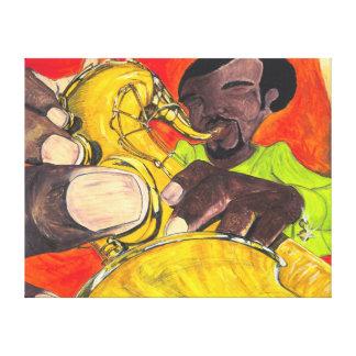 Sassy Sax - Canvas Canvas Prints
