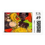 Sassy Sax Postage Stamps
