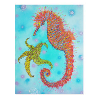 Sassy Sea Horse Postcards