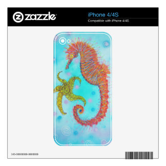 Sassy Sea Horse Skin For The iPhone 4