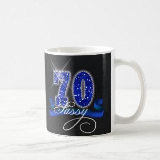 Sassy Seventy Sparkle Coffee Mug