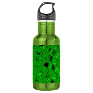Sassy Shiny Metallic Emerald Green Diamond Stainless Steel Water Bottle