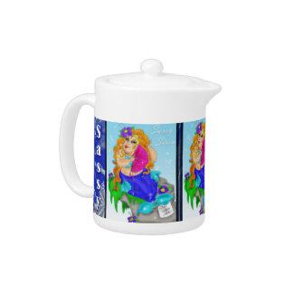 'Sassy Siren'  Chubby MERMAID Teapot
