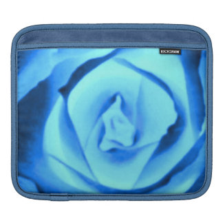 Sassy Sissy Girl Sapphire Blue Rose Nature Photo Sleeves For iPads