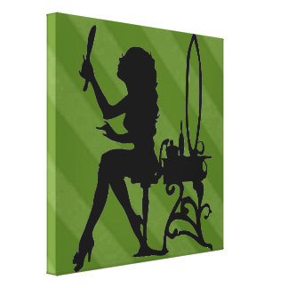 Sassy Sissy Pretty Is Olive Sage Green Grunge Canvas Print