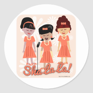 Sassy Sixties Girl Group Classic Round Sticker