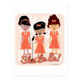 Sassy Sixties Girl Group Postcard