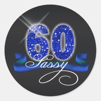 Sassy Sixty Sparkle ID191 Classic Round Sticker