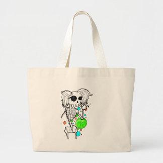 Sassy skeleton series canvas bag