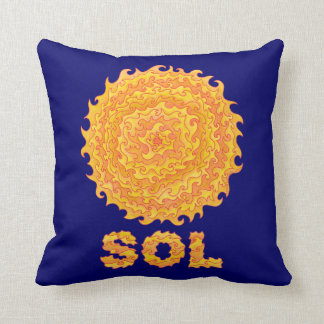 Sassy Sol The Sun Space Geek Decorator Pillow