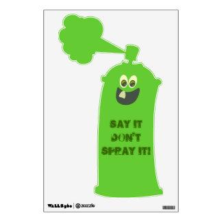 Sassy Spray Bottle Wall Skin
