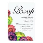 Sassy Spring Flowers Modern Wedding RSVP Card