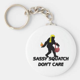 Sassy Squatch Don't Care Keychain