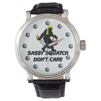 Sassy Squatch Don't Care Wristwatch