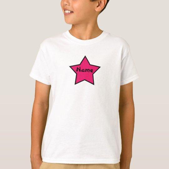 Sassy Star Pink and Black Girls Custom Shirt