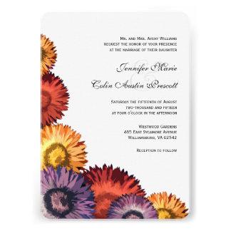 Sassy Summer Flowers Modern Wedding Invitation