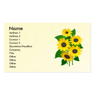 Sassy Sunflowers Business Cards