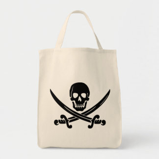 Sassy & sweet Halloween skull pirate print Tote Bag