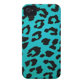 Sassy Teal Leopard Animal Print Case Case-Mate iPhone 4 Cases
