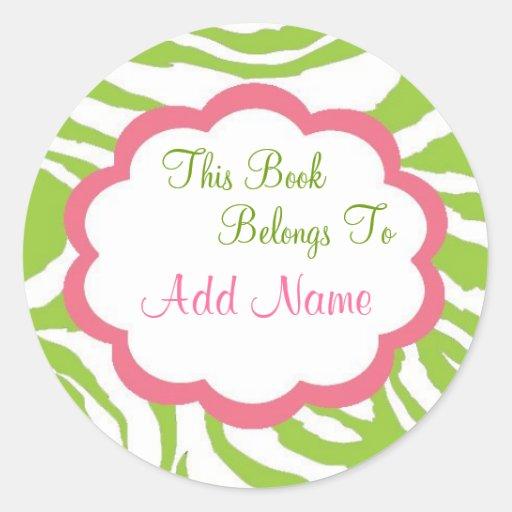"Sassy ""this book belongs to"" sticker"