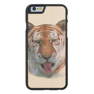 Sassy Tiger Cat Customizable Carved® Maple iPhone 6 Slim Case