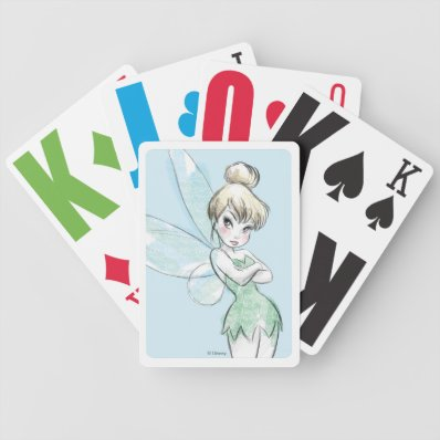 Sassy Tinker Bell Bicycle Playing Cards