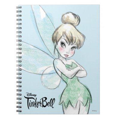 Sassy Tinker Bell Spiral Notebook