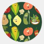 Sassy Veggies! Round Stickers