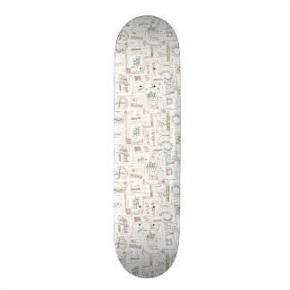 Sassy-Whimsical Pattern Print Skateboard Deck