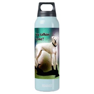 Sassy White Boxer Dog Insulated Water Bottle