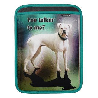 Sassy White Boxer Dog IPad Sleeve