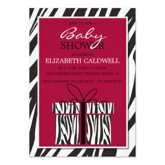 """Sassy Zebra Baby Shower Invitation 5"""" X 7"""" Invitation Card"""