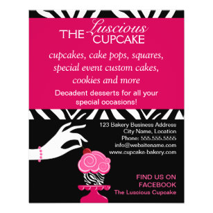 cake business flyers zazzle