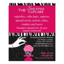 Sassy Zebra Cupcake Bakery Promotional Flyer