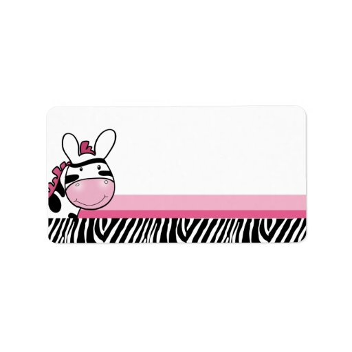 Sassy Zebra Diva Print your Own Mailing Label | Zazzle