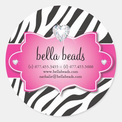 Sassy Zebra Jewelry Designer Stickers