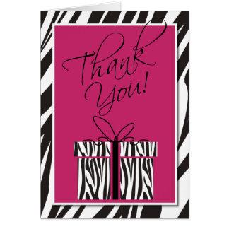 Sassy Zebra Print Thank You Card