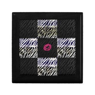 Sassy Zebra Silver Black animal Print Jewelry Boxes