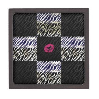 Sassy Zebra Silver Black animal Print Premium Jewelry Box