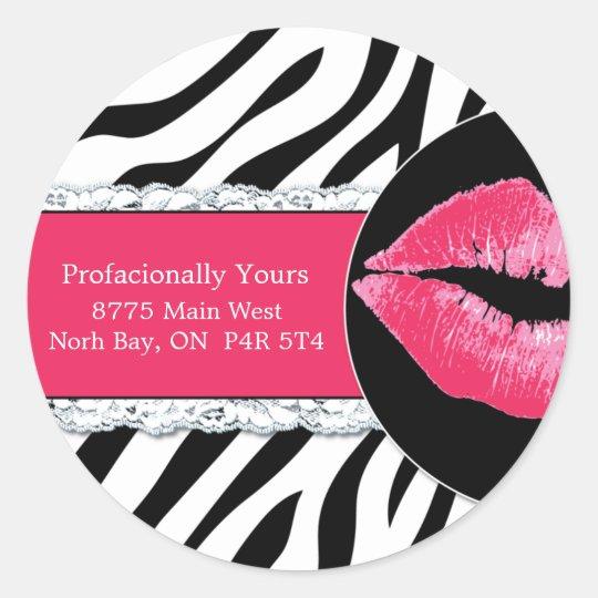 Sassy Zebra Stickers