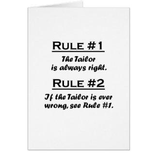 Sastre de la regla felicitación