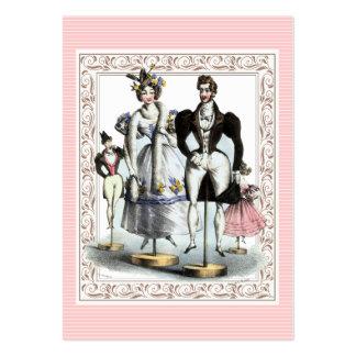 Sastre de las tarjetas de la moda del vintage, alt tarjetas de visita