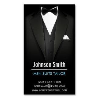 Sastre de los juegos de los hombres - blanco negro tarjetas de visita magnéticas (paquete de 25)
