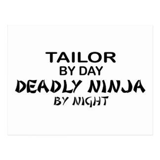 Sastre Ninja mortal por noche Postales