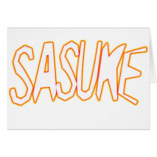 SASUKE-h-g2 Tarjeta De Felicitación