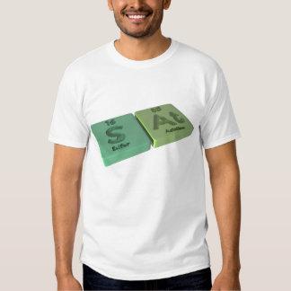 Sat as S Sulfur and At Astatine Tee Shirt